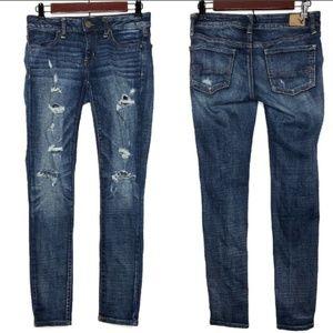 AE Skinny Jeans Super Stretch Size 2 Short